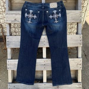 Miss Me Boot Cut Jeans embellished